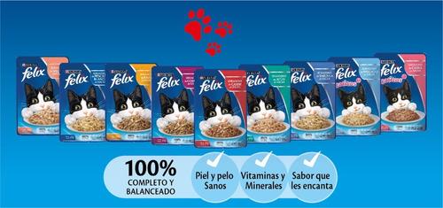 pack felix® gatitos sensaciones de carne en salsa 85 gr