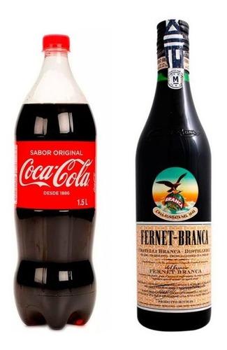 pack fernet branca + coca cola de 1.5 litro