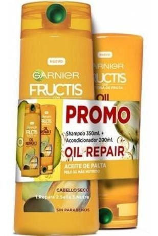 pack fructis shampoo 350 ml acondicionador 200 ml oil repair