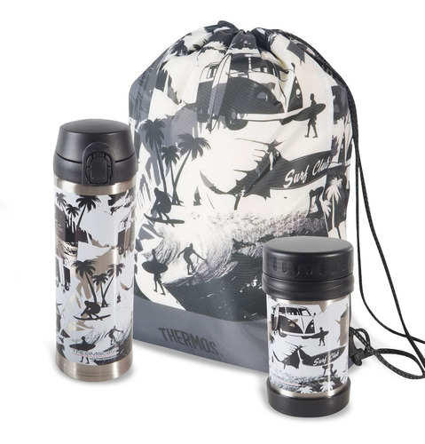 pack full bts surf club - thermos