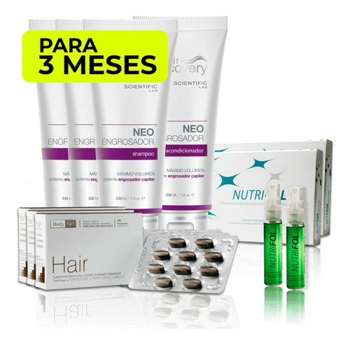 pack full engrosador (3 meses) hair recovery
