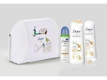 pack gifting dove desodorante + shampoo + aco + neceser
