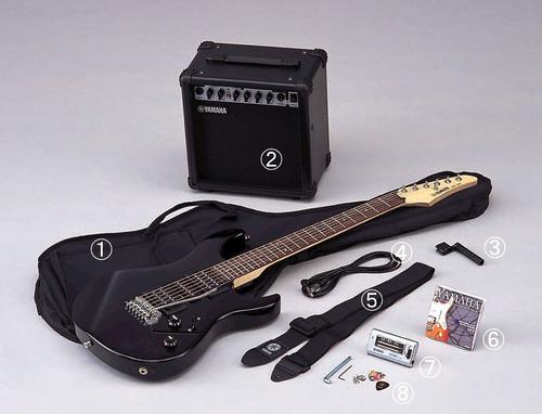 pack guitarra eléctrica black erg121gpii blh yamaha