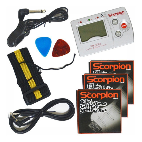 pack guitarra electrica .p/zurdo scorpion