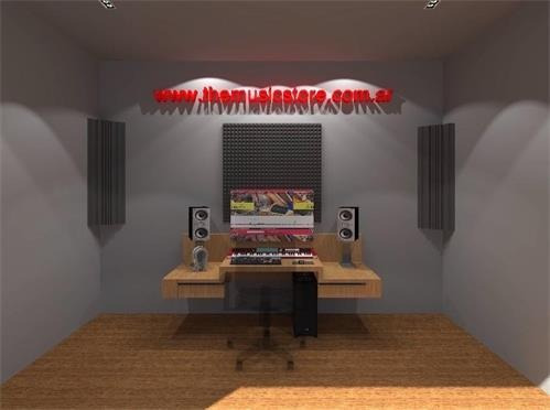 pack home studio placas fonoabsorbente acusticas acuflex x8