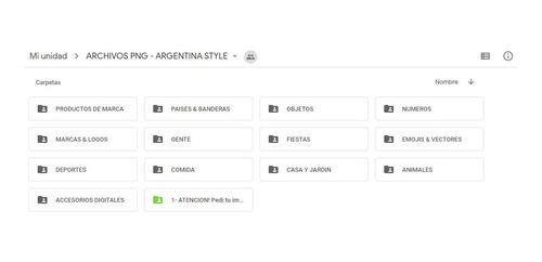 pack imagenes png - estilo argentino