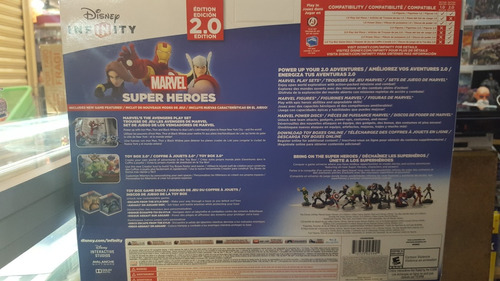 pack inicial disney infinity 2.0 marvel para ps3 - nuevo -