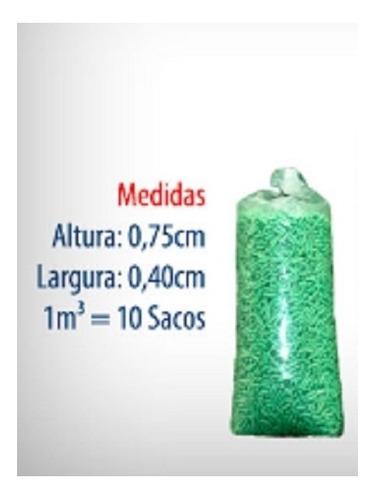 pack isopor preenchimento caixa ecommerce 2,4 kilos bio pack