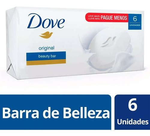 pack jabón dove original 6 x 90 grs