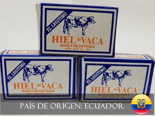 pack jabon hiel de vaca 6 unidades, para cuidado de la piel