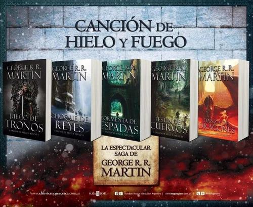 pack juego de tronos (5 libros) - cancion de hielo y fuego