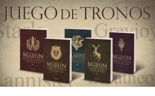 pack juego de tronos - cancion de hielo y fuego (5 libros)
