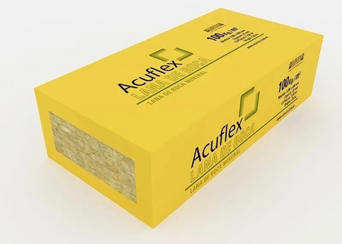 pack lana de roca mineral (6 unidades) 120x60x5x100kg/m3