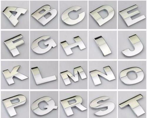 pack letras 3d autoadhesivas cromadas 200 unidades - cymaco