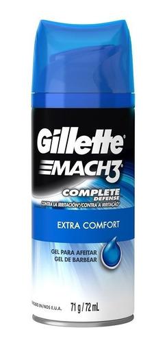 pack maquina afeitar gillette mach3 + 4 repuestos  + gel 71g