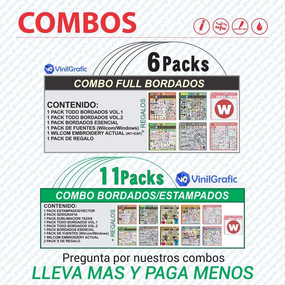 Pack Matrices Patrones Brother Matriz Coser - $ 9.990 en Mercado Libre