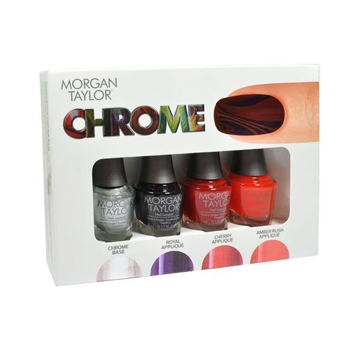 pack morgan taylor nail enamel chrome x4 und- sally beauty