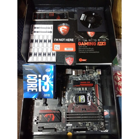 Pack Msi Msi Z170a + I3 6100 Usados Impecable Estado Sin Ram