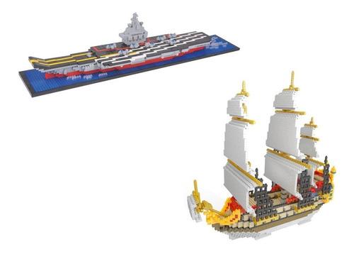 pack nanoblock barcos santa maría y portaviones envío gratis