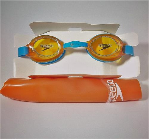 pack natacion niños lente + gorro speedo