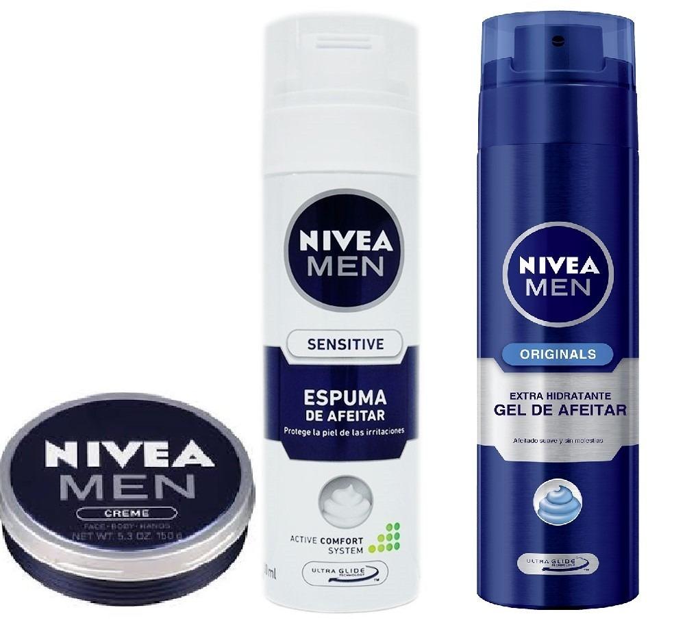 4084f87e4a4 Pack Nivea Men Espuma Facial+gel Para Afeitar+crema -   450.00 en ...