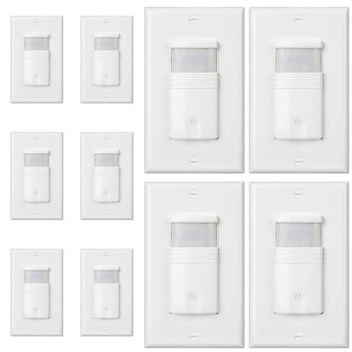 (pack of 10) white 3 way motion sensor light switch   neutra