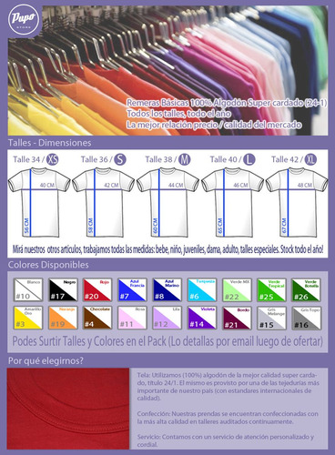 pack oferta x12 remeras lisas dama - 100% algodón