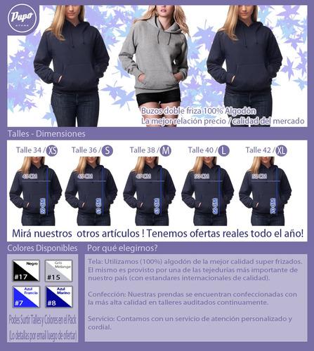 pack oferta x3 buzos con capucha - canguro - fábrica