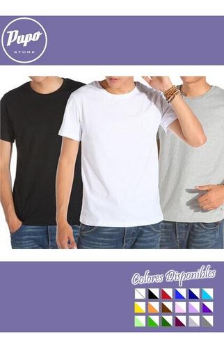 pack oferta x3 remeras lisas adolescentes - 100% algodón