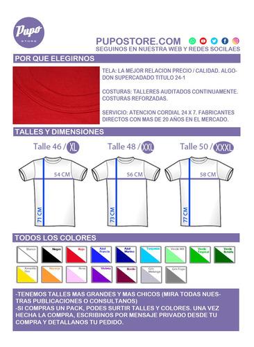 pack oferta x6 remeras lisa talles especiales - 100% algodón