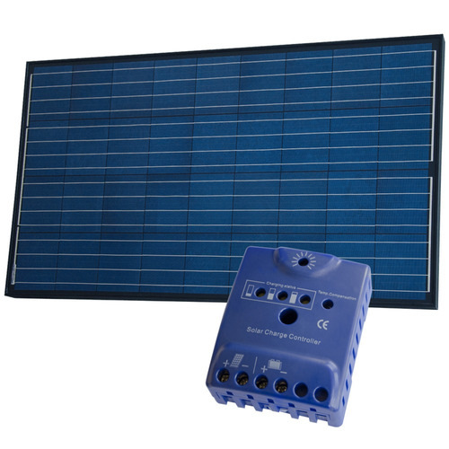 pack panel fotovoltaico 120w neg + regulador solar - enertik