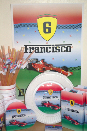 pack personalizado 20 party kit ferrari autos+souvenirs