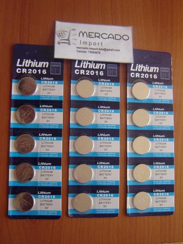 pack pilas cr 2016 lithium, de 3 volt. blíster de 5 unidades