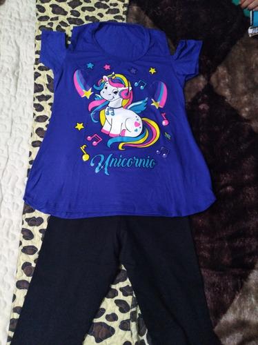 pack polera de unicornio más calza talla 10