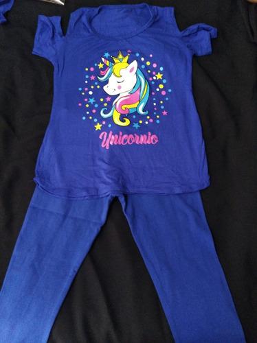 pack polera de unicornio más calza talla 14