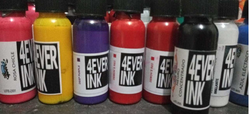 pack por 3 tintas de tatuajes 4ever ink