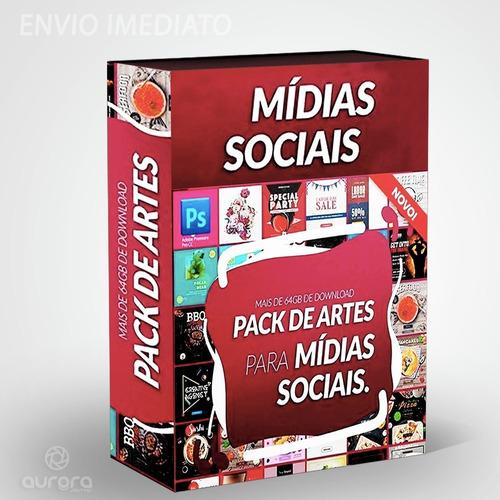 pack premium artes prontas mídias sociais, fontes, templates