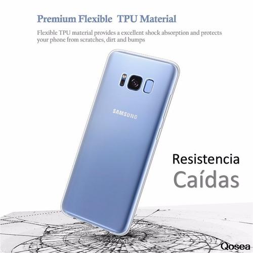 pack protector gel + vidrio templado samsung galaxy s8 plus