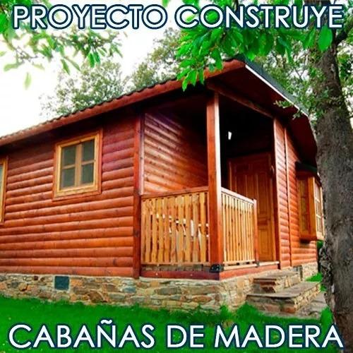 pack proyecto construye casas cabañas madera planos ideas
