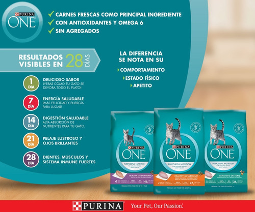 pack purina one® gatito saludable 3,17 kg