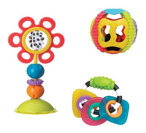pack regalo juguetes mordillos playgro 0185258 babymovil
