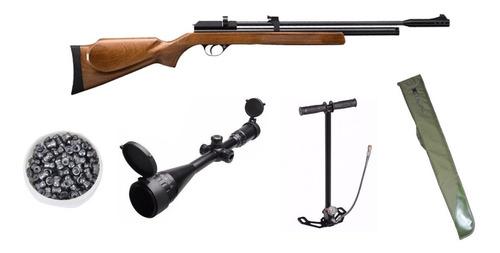 pack rifle pcp pr900 caceria + funda mira bombim postones