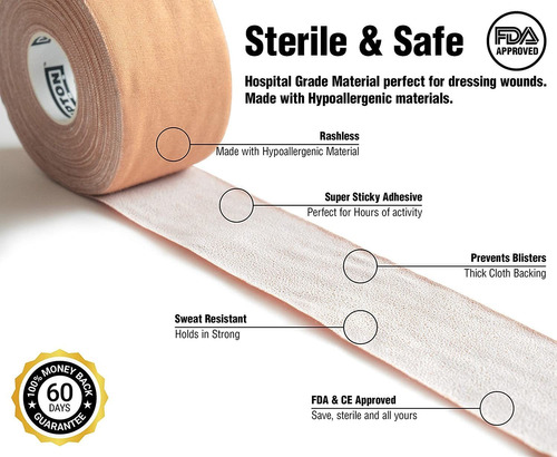 pack rigid strapping tape  for blister prevention  mcc...