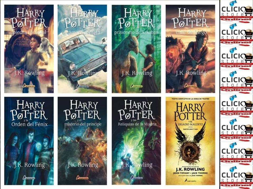 Pack Saga Harry Potter Completa: 8 Libros - J K Rowling