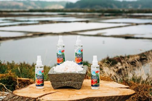 pack sal de mar de cáhuil líquida, de grano, quínoa, papayas