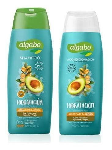 pack shampoo aco algabo 400 ml aguacate argan