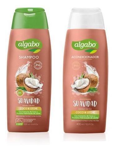pack shampoo aco algabo 400 ml coco leche