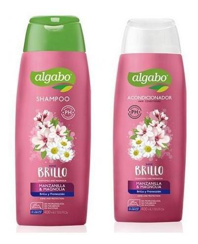 pack shampoo aco algabo 400 ml manzanilla magnolia