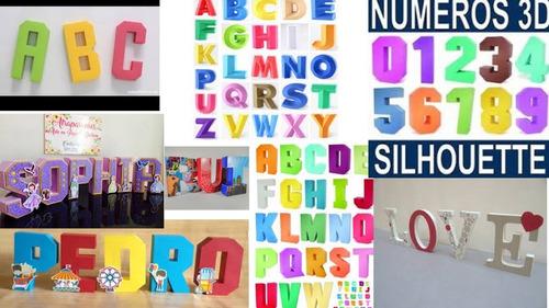 pack silhouette cameo letras mayusculas y minusculas2d 3d