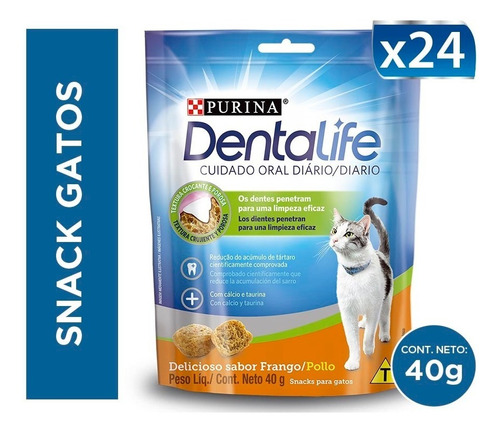 pack snack gatos dentalife® 40g